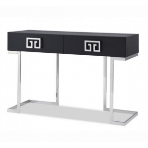 Nobb Black Ash And Steel Console Table