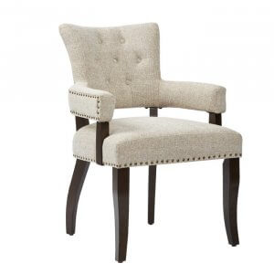 Groove Dining Chair With Upholstery