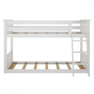 Huddle Marandi Wood Bunk Bed In White Colour