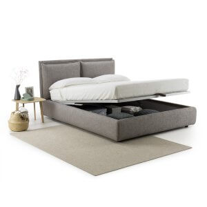 Resspro Queen Size Upholstered Bed With Hydraulic Storage