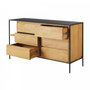 Myraid Chest of Drawer in Rubber Wood