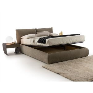 Glimmero King Size Upholstered Bed With Hydraulic Storage