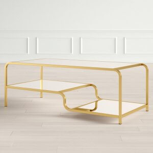 Spro Coffee Table in Gold Finish