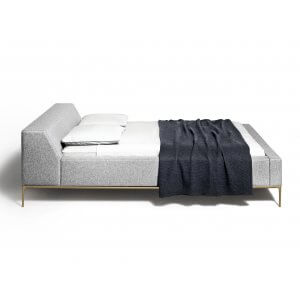 Slash King Size Upholstered Bed Without Storage