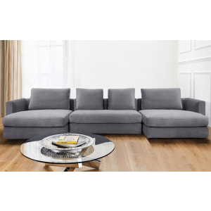 Shapesly U-Shape Velvet Sofa