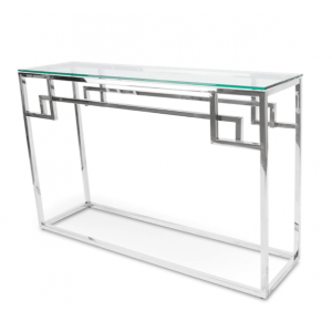 Lato Console Table, Stainless Steel