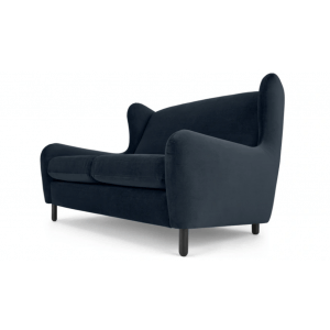 Artic 2 Seater Sofa in Blue Velvet