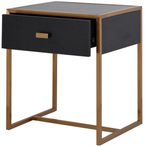 Ambient Bedside Table in Dark Walnut Colour