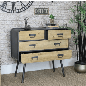 Plume Metal Chest of Drawer