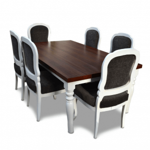 Cirrus Teak Wood 6 Seater Dining Table with Chairs