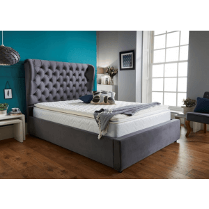 Bison King Size Upholstered Bed with Hydraulic Storage