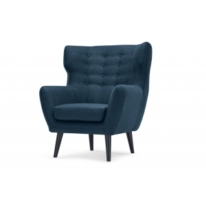 Brick Wing Back Chair, Scuba Blue