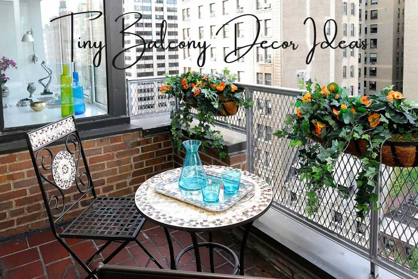 Tiny Balcony Decor Ideas