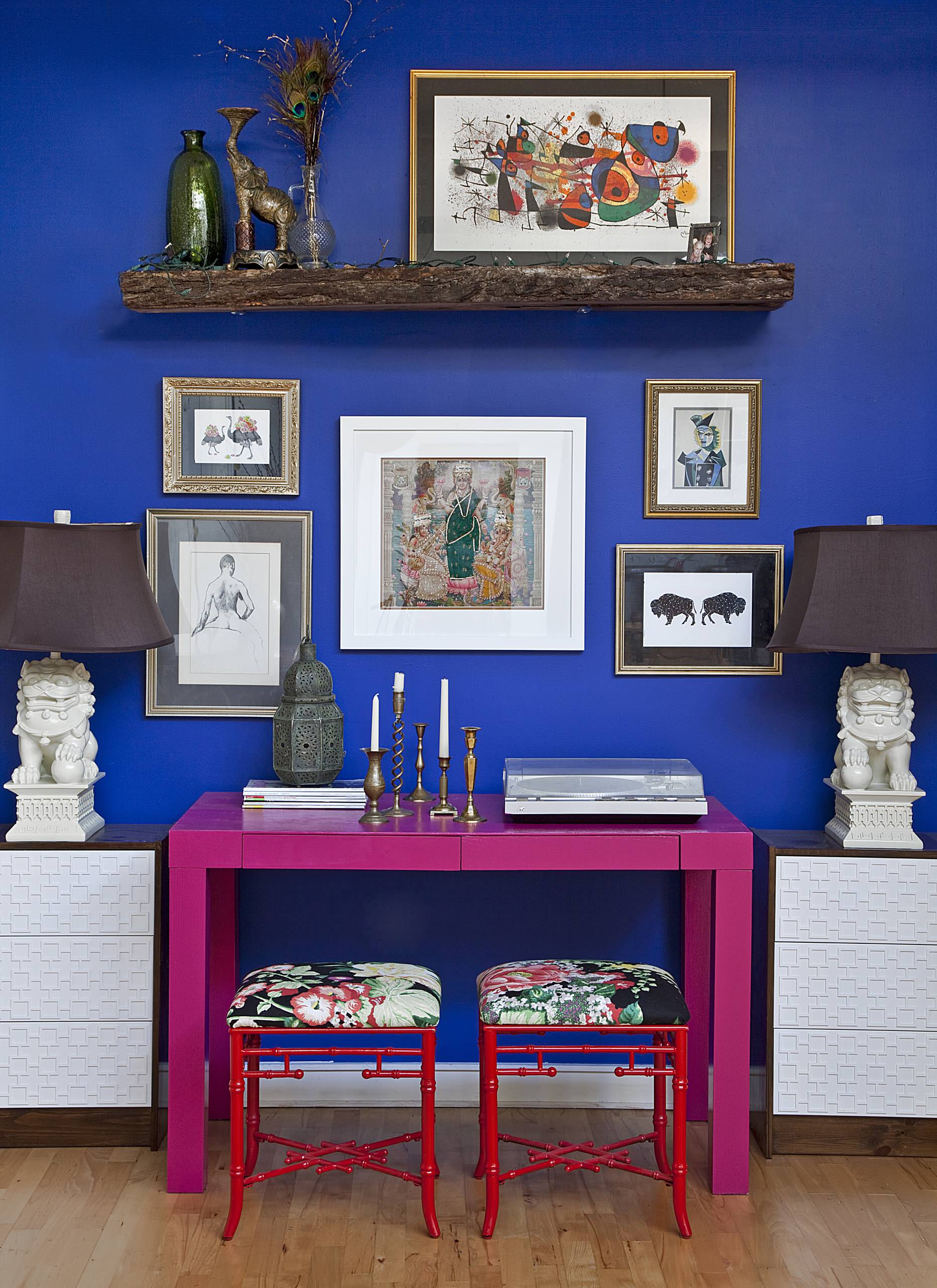 pink and cobalt home decor furnitureadda