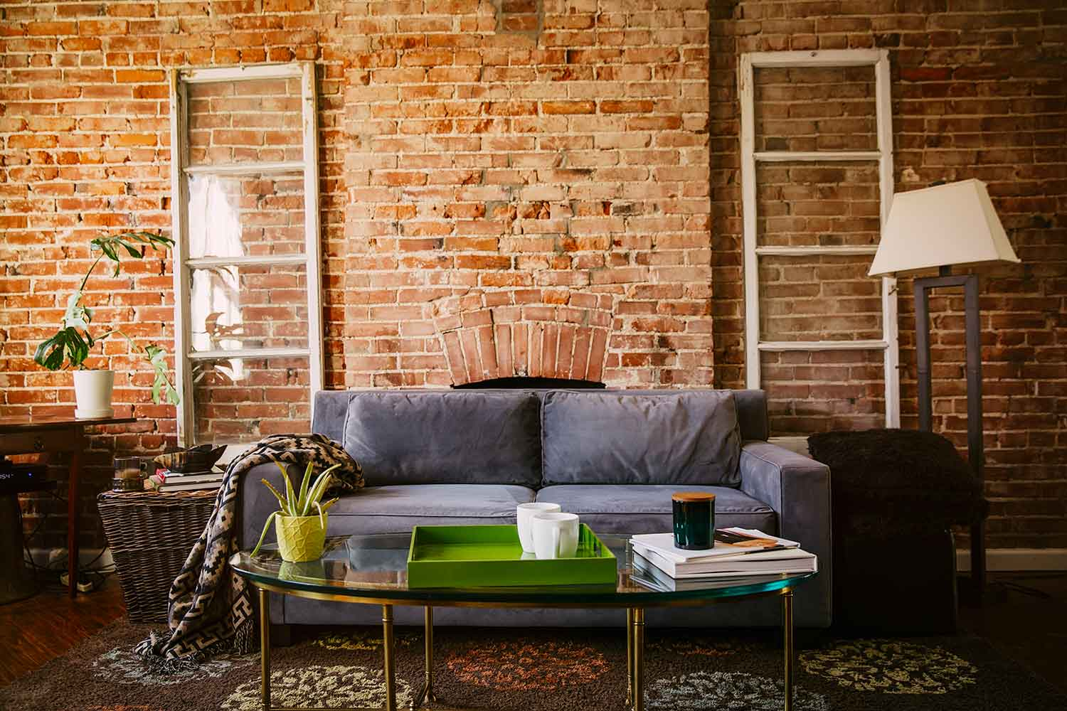 exposed-brick decor