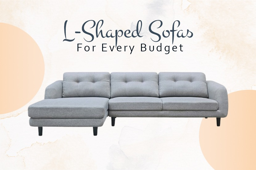 L-shaped sofa for every budget