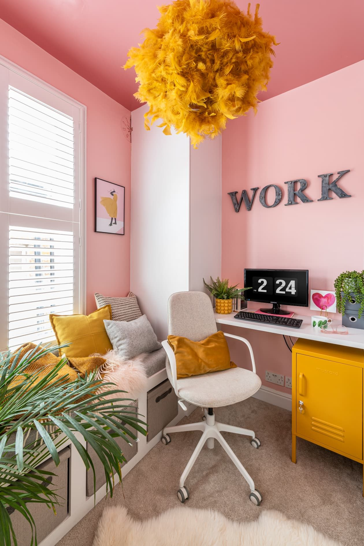 pink and yellow home decor furnitureadda